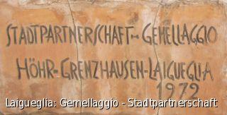 Laigueglia: Gemellaggio - Stadtpartnerschaft