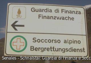 Senales - Schnalstal: Guardia di Finanza e Soccorso alpino - Finanzwache und Bergrettungsdienst
