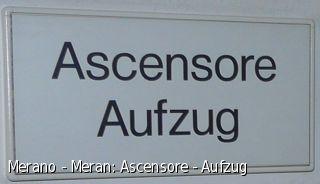 Merano - Meran: Ascensore - Aufzug