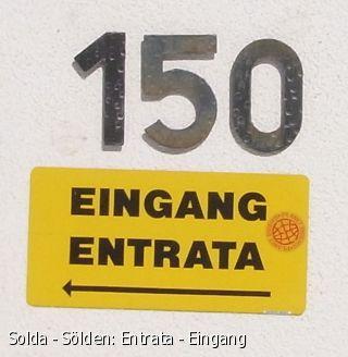 Solda - Sölden: Entrata - Eingang