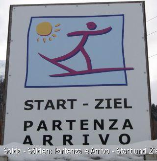 Solda - Sölden: Partenza e Arrivo - Start und Ziel