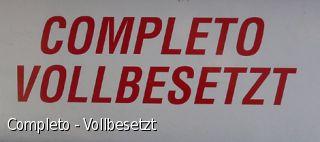 Completo - Vollbesetzt