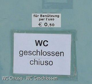 WC Chiuso - WC Geschlossen