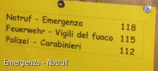 Emergenza - Notruf